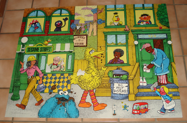 Sesame Street Floor Puzzle